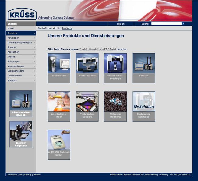 Screenshot Krüss GmbH