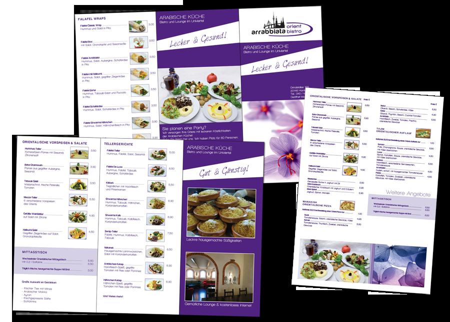 Flyer und Speisekarte